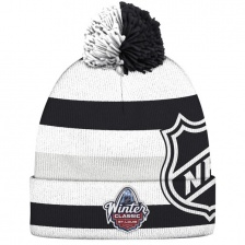 Шапка Reebok с помпоном White/Black 2017 Winter Classic Event Cuffed Knit Hat