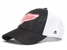 "Бейсболка ""NHL Detroit Red Wings"" серо-белая"