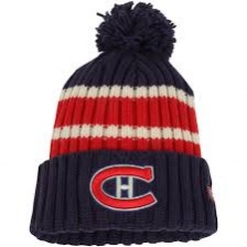 Шапка CCM с помпоном  Red/Navy Montreal Canadiens Watch Cap Cuffed Pom Hat